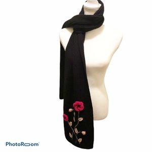 Kate Spade Crochet Poppy Knit Muffler Scarf